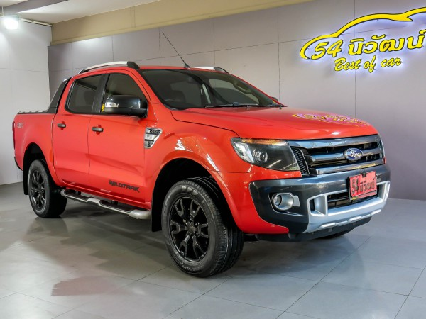 FORD RANGER DOUBLECAB 3.2 WILDTACK 4WD. AT ปี 2013 สีส้ม