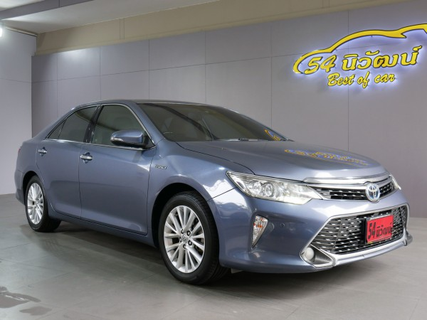TOYOTA CAMRY 2.5 HV NAVI MINOR CHANGE AT ปี 2015 สีเทา