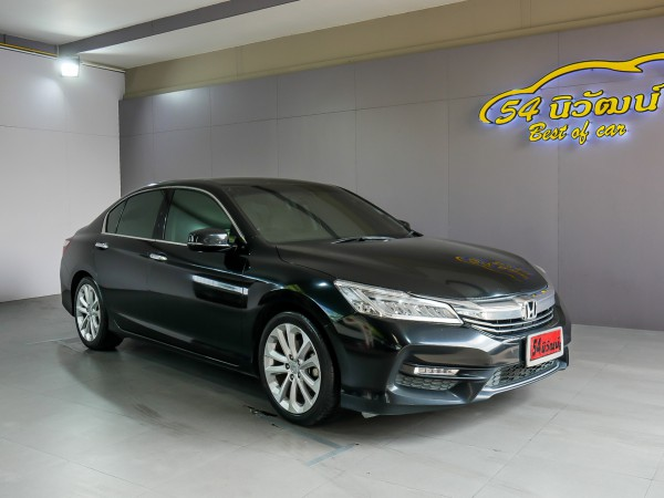 HONDA ACCORD G9 2.4 EL NAVI MINOR CHANGE AT ปี 2016 สีดำ