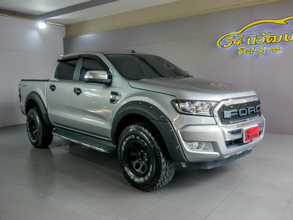 FORD RANGER DOUBLECAB 2.2 XLT HI-RIDER AT ปี 2016 สีเทา